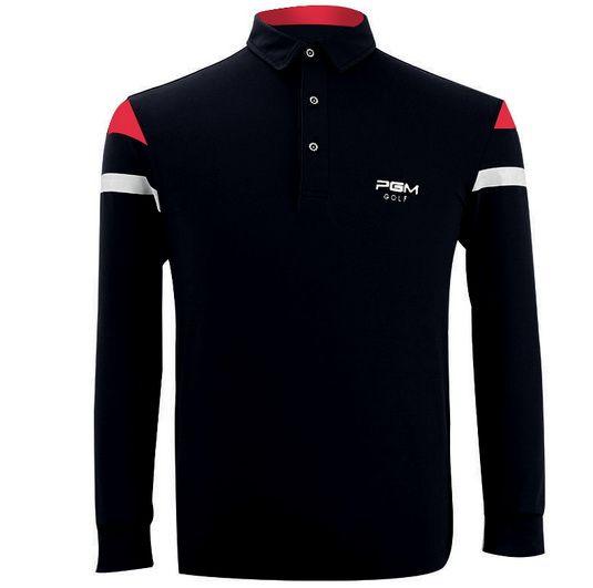 Mens Golf T Shirt Classic Lapel Parallel Bars Decorative Long-sleeve Outdoor Fitness Sport T Shirt Badminton Table Tennis Shirt