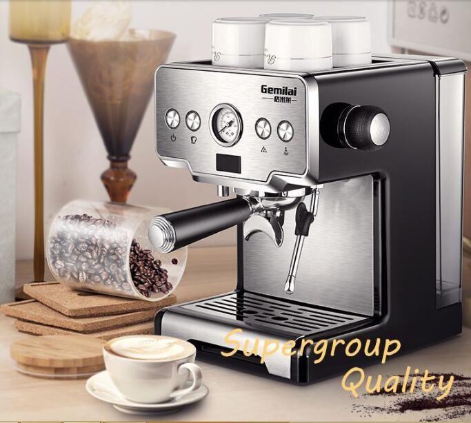 Temperatur Control Italienische Kaffee Maker 15bar Edelstahl Halbautomatische Kaffee Maschine Dampf Gegrillte Kaffee Maker CRM3605