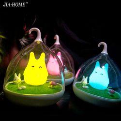 Asign Nuit Lumière Style Totoro USB Portable LED Veilleuse Lampe Pour Cadeau Tactile Capteur pour bébé Lampe De Chevet