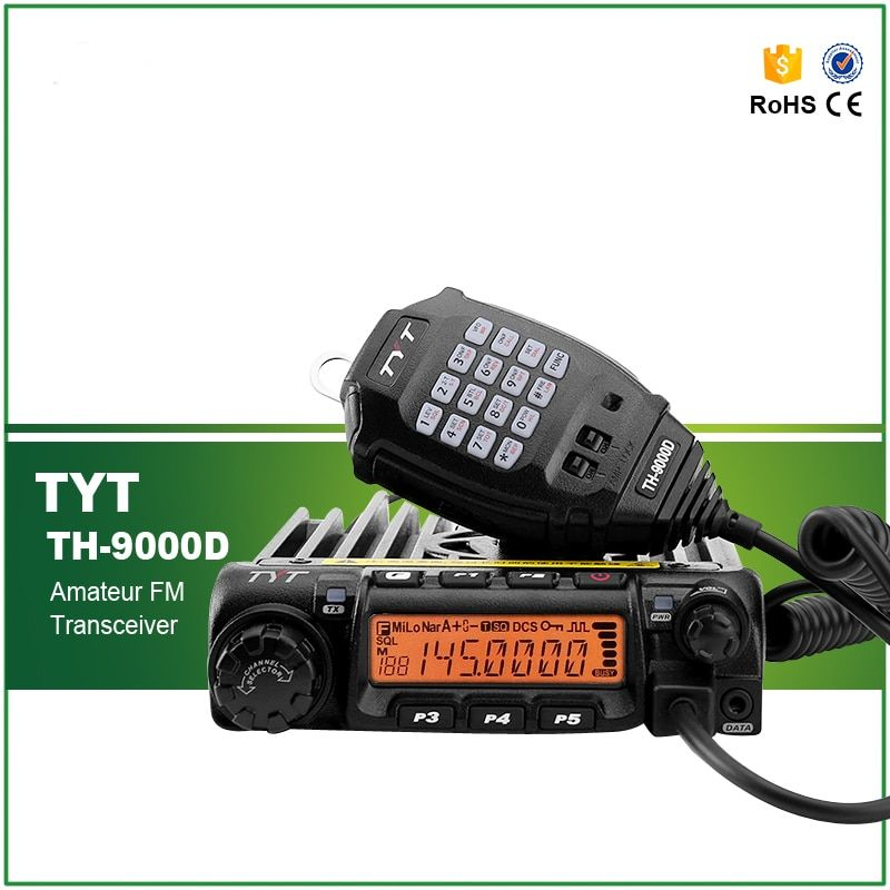 DHL/EMS Fast Shipping 60W Scrambler Original TYT TH-9000D Mono Band VHF Vehicle Radio Transceiver