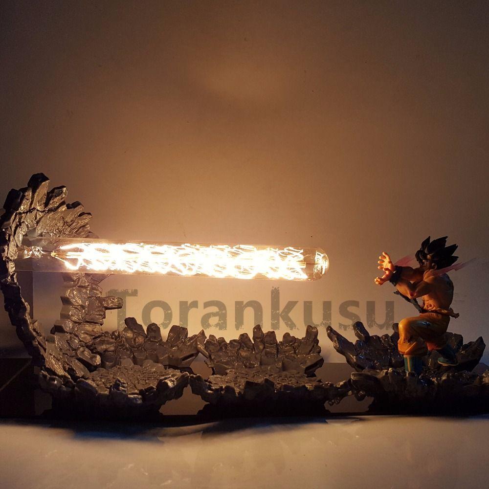 Dragon Ball Z Goku Action-figuren Kamehameha Angriff Anime Dragon Ball Z Goku Super Saiyan DBZ Led-beleuchtung Modell spielzeug