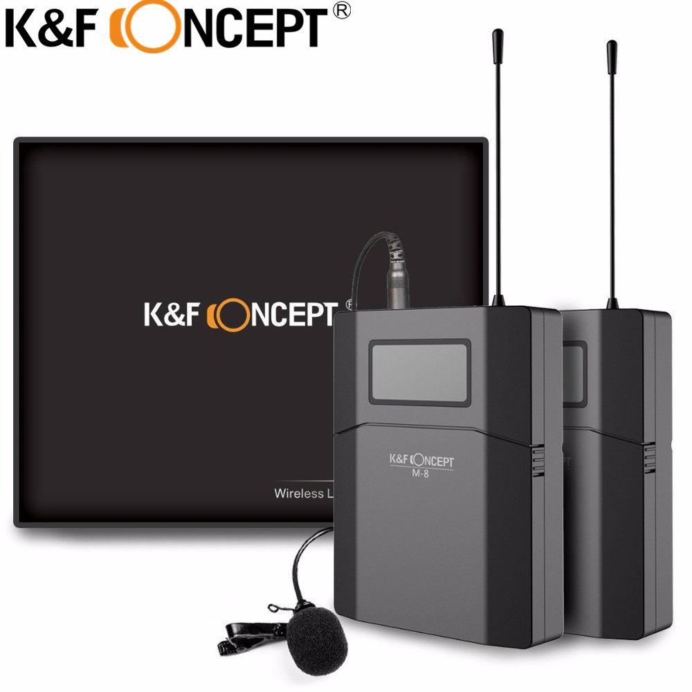 K & F CONCEPT Sans Fil Caméra Microphone Portable Vidéo MIC Récepteur Avec Émetteur Pour Canon Nikon SONY DSLR Caméra Microfone