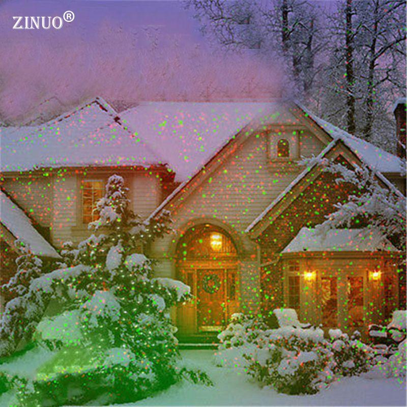 Zinuo открытый сад газона свет неба звезды лазерного прожектор проектор душ ландшафтный парк сад Новогодние товары огни Открытый