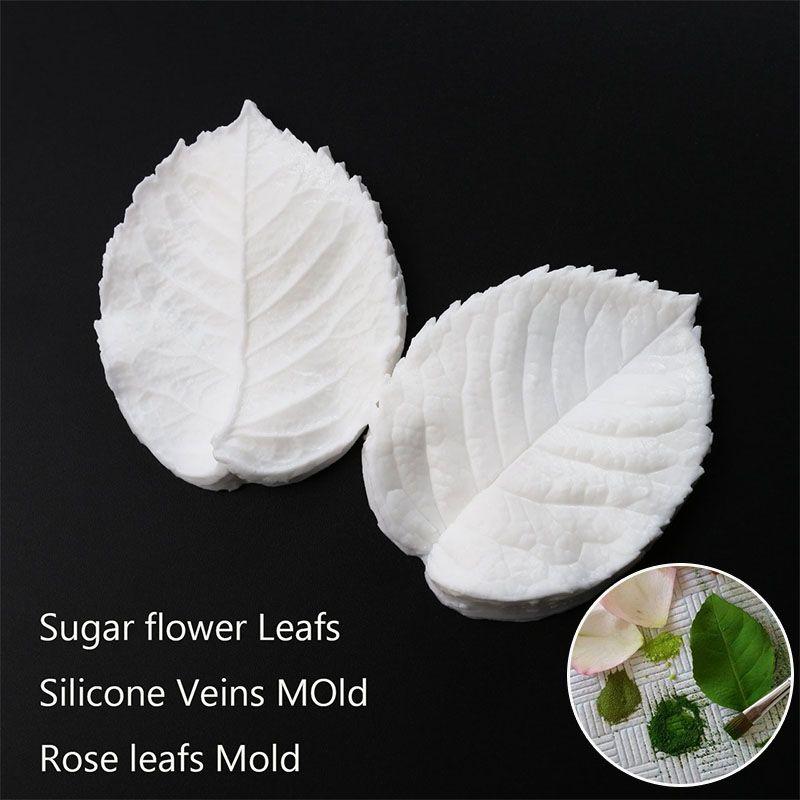 Помадка листьев плесень сахар цветок жилок листа силиконовые формы Роза жилок листа силиконовые формы