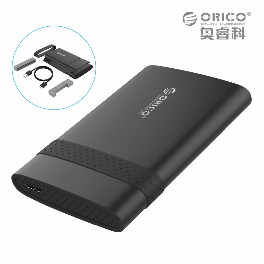 ORICO 2538U3 2.5-inch Mobile Hard Disk Box USB3.0 Notebook Free Tools HDD Encloxure for SSD (Not including Hard Disk Drive)