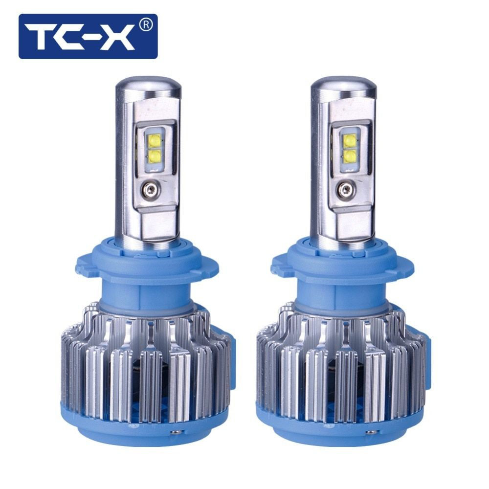 TC-X Top Brand Guaranteed LED Headlight Car Light H7 LED H1 H3 H11 9006/HB4 9005/HB3 H27/880 H4 High Low Beam 9007 <font><b>9004</b></font> H13 9012