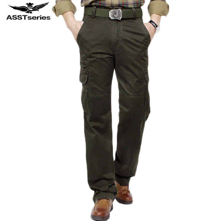 AFS JEEP marke 2016 Neue Ankunft Armee Grün 3 Farben Plus Größe Militray Herrenhosen Gerade Tasche Hosen für männer 96
