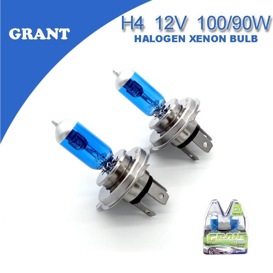SUBVENTION 1 Set H4 12 V 100/90 W Xénon Halogène Ampoules 6000 K Super Lumineux Blanc Universal Auto phare Remplacement Lampes Pour Voiture