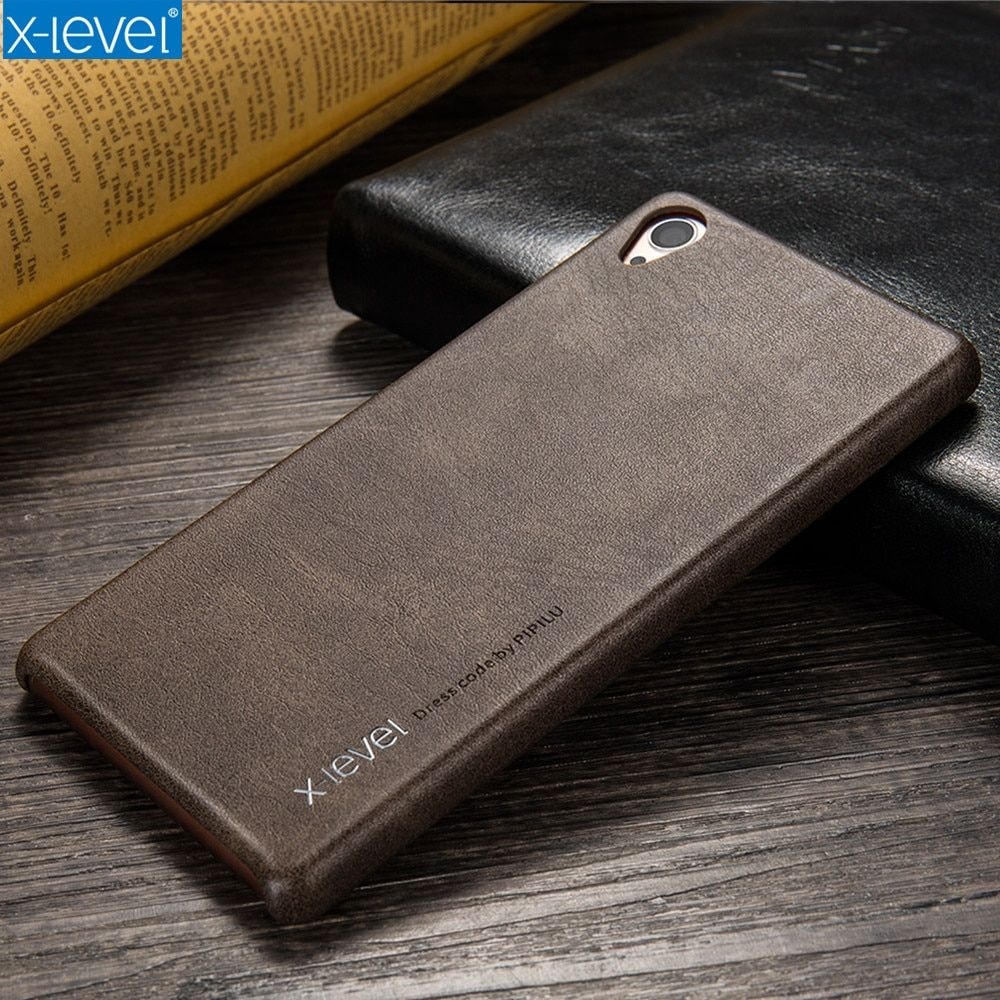 X-Level Vintage Luxury PU Leather Phone Case For Sony Xperia Z3 Back Cover For Sony Z3 Cases Ultra Thin Full Protective