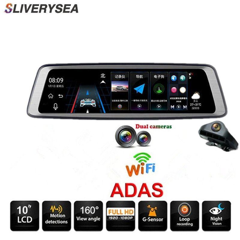 10 Touch Screen Bluetooth WiFi 4G Android Auto DVR Kamera 1080 P Volle HD Rückansicht Video Recorder registrars Dash Cam # B1166
