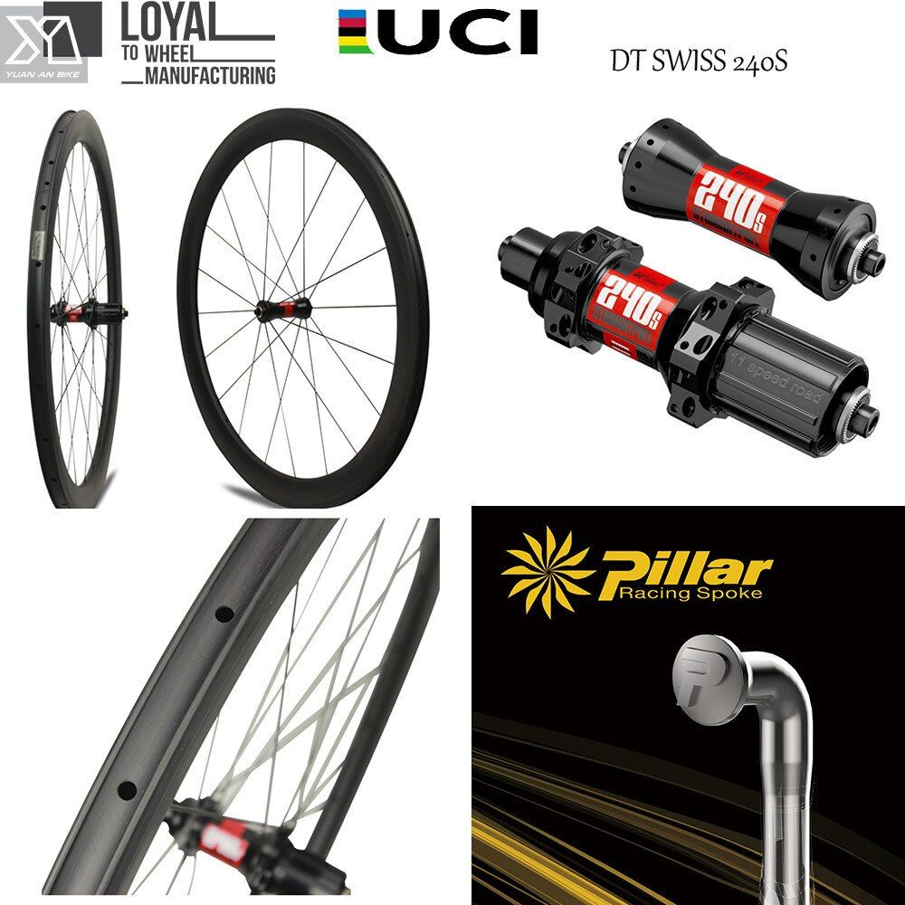 Aero Fahrrad Carbon Rad Tubular Klammer Tubeless Felge Rennrad Laufradsatz 30mm 38mm 47mm 50mm 60mm mit DT Swiss 240 s Hub