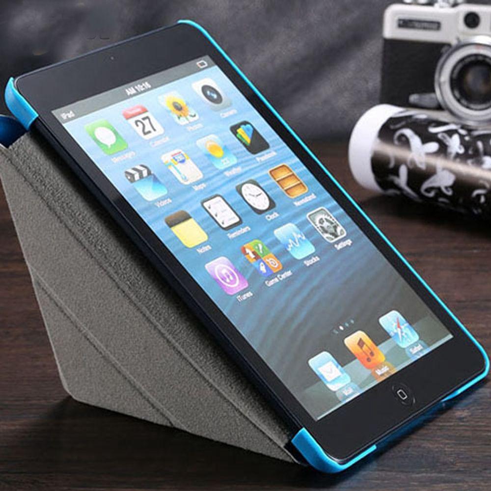FLOVEME Leder Flip Fall Für iPad Mini Tabletten Zubehör Gefaltet Schlaf Wake Ständer Schutzhülle Abdeckung Für iPad Mini 1 2 3