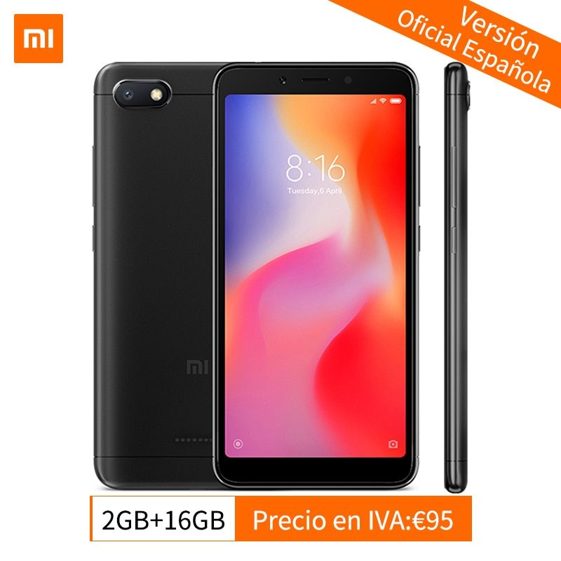 Global Version Original Xiaomi Redmi 6A 2GB RAM 16GB ROM Smartphone MTK Helio A22 Quad Core 1440x720 5.45