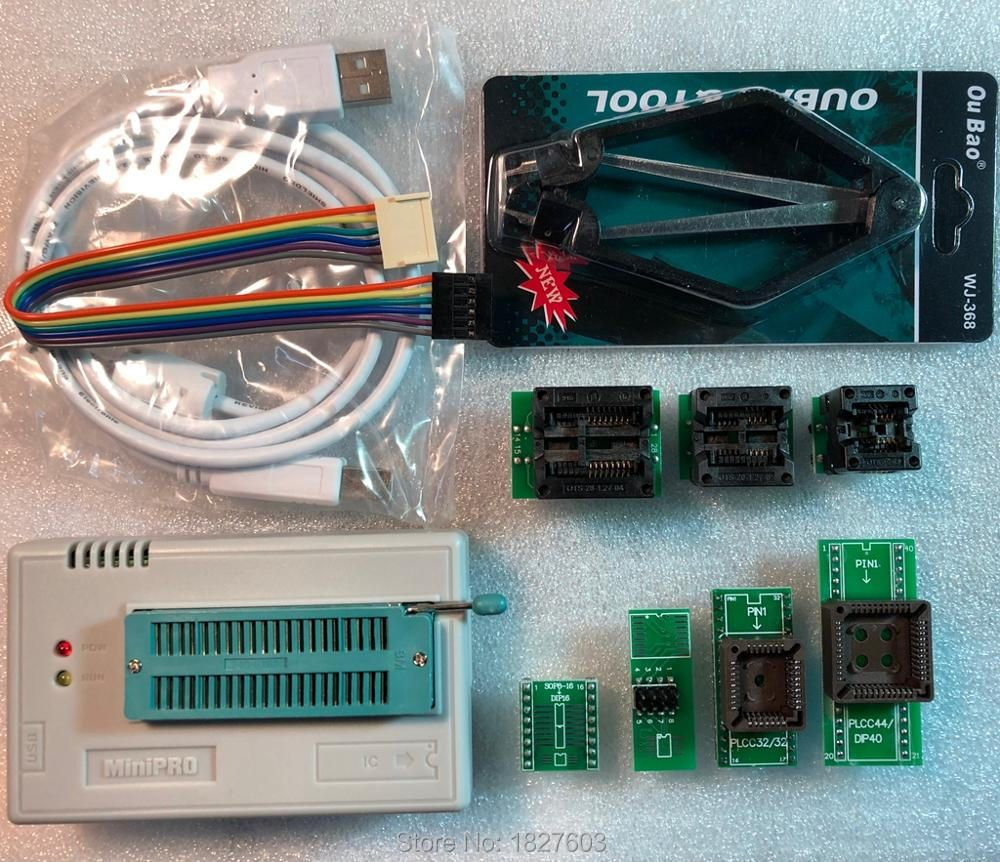 V7.05 XGecu TL866II Plus USB Programmeur soutien 15000 + IC + 7 PCS Adaptateur SPI Flash NAND EEPROM MCU PIC AVR remplacer TL866A