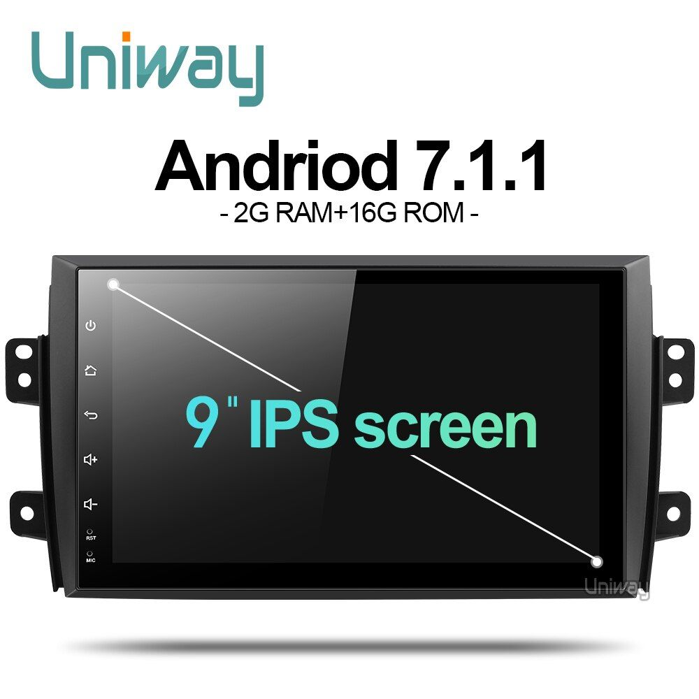 uniway ATY9071 2G+16G Android 7.1 car dvd for Suzuki SX4 2006 2007 2008 2009 2010 2011 2012 2013 car radio gps  navigation