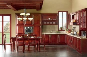 solid wood disassemble kitchen cabinets(LH-SW060)