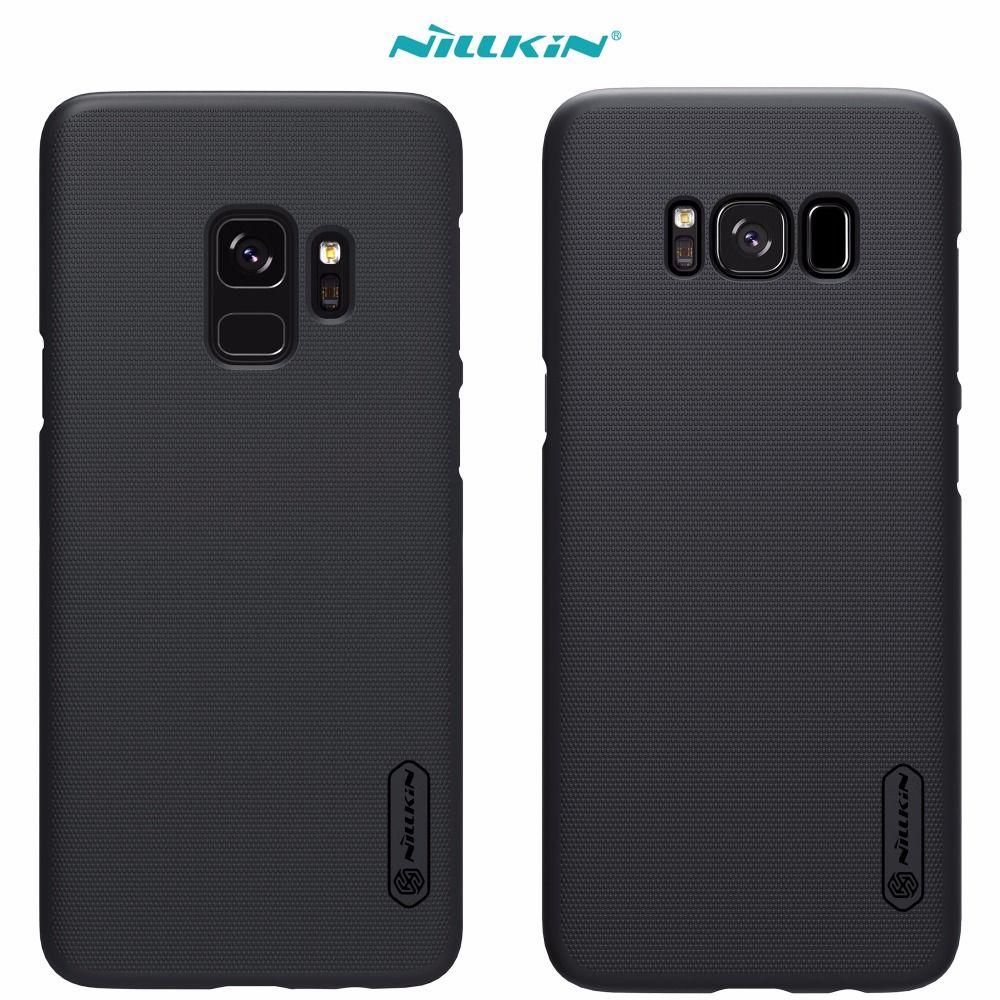 Cas Pour Samsung Galaxy S9 S8 Plus s4 NILLKIN Super givré Bouclier couverture arrière avec protecteur d'écran gratuit et de Détail paquet