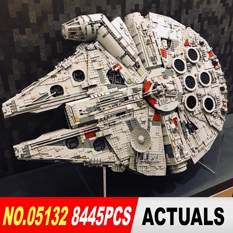 lepin 05132 star wars star destroyer millennium falcon 75192 starwars bricks model building blocks toys for boys