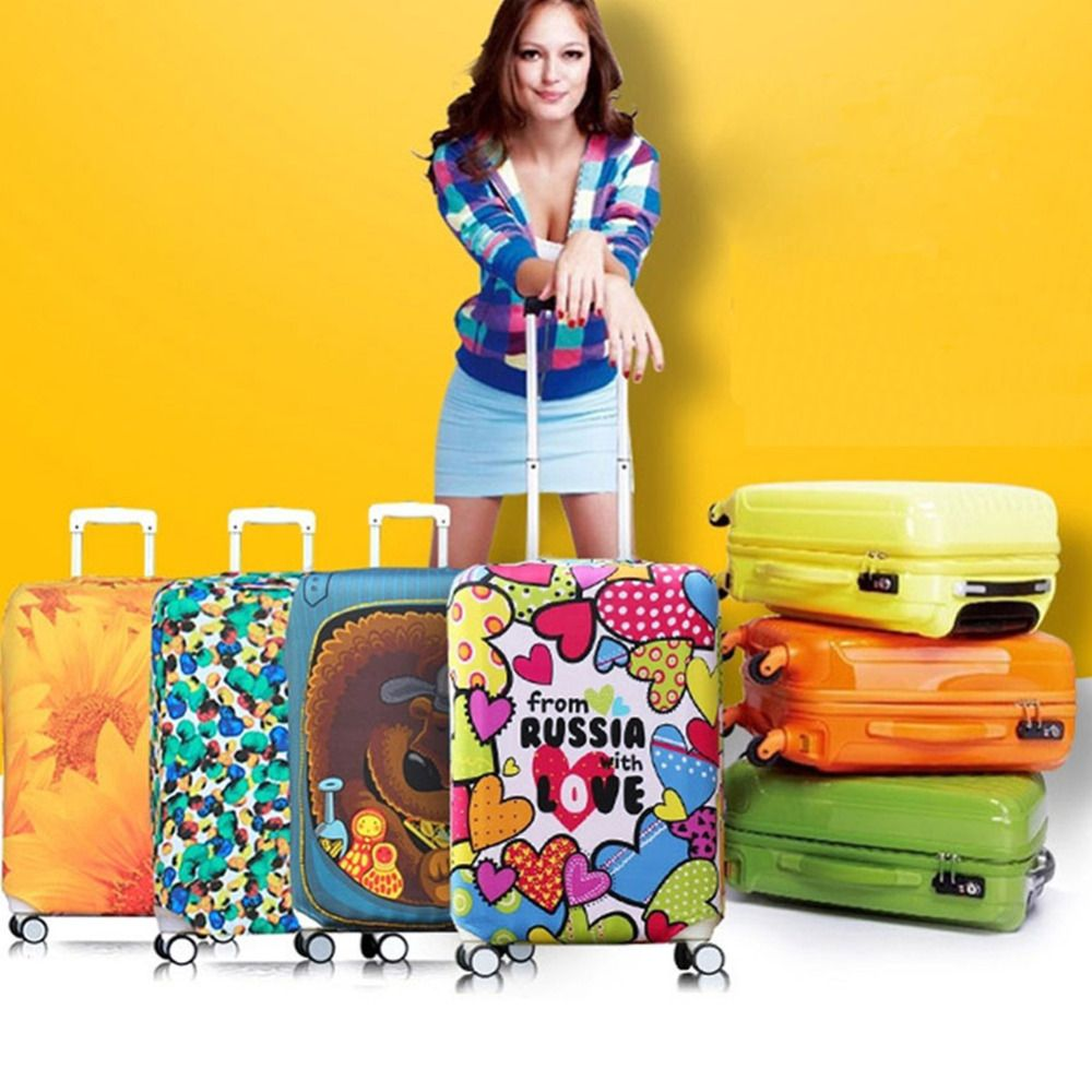 Thicker Travel Luggage Suitcase Protective Cover for Trunk Case Apply to 18''-32'' Suitcase Cover Elastic Perfect Luggage Cover