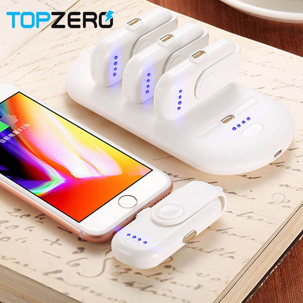 Portable Mini Power Bank 4 FingerPow Magnetic Charging for iPhone Samsung Micro Type C Mobile Phone Powerbank Charger Finger Pow