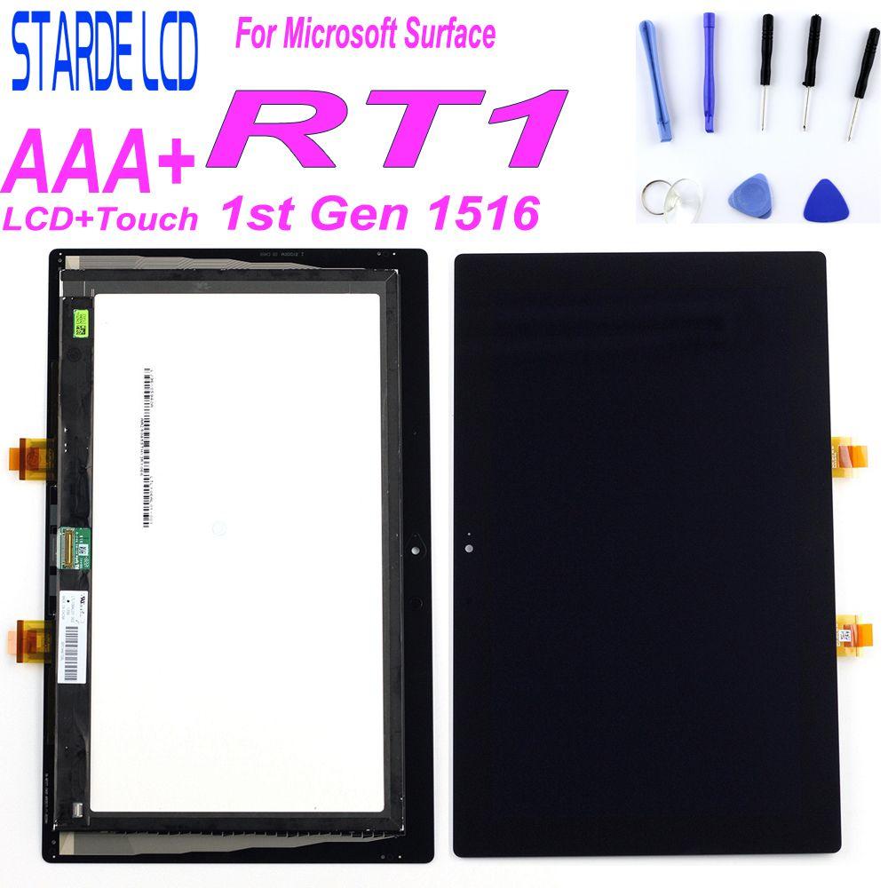 STARDE LCD pour Microsoft Surface 1 1st Gen RT1 Windows RT 1516 LCD écran tactile numériseur assemblée LTL106AL01-001Parts