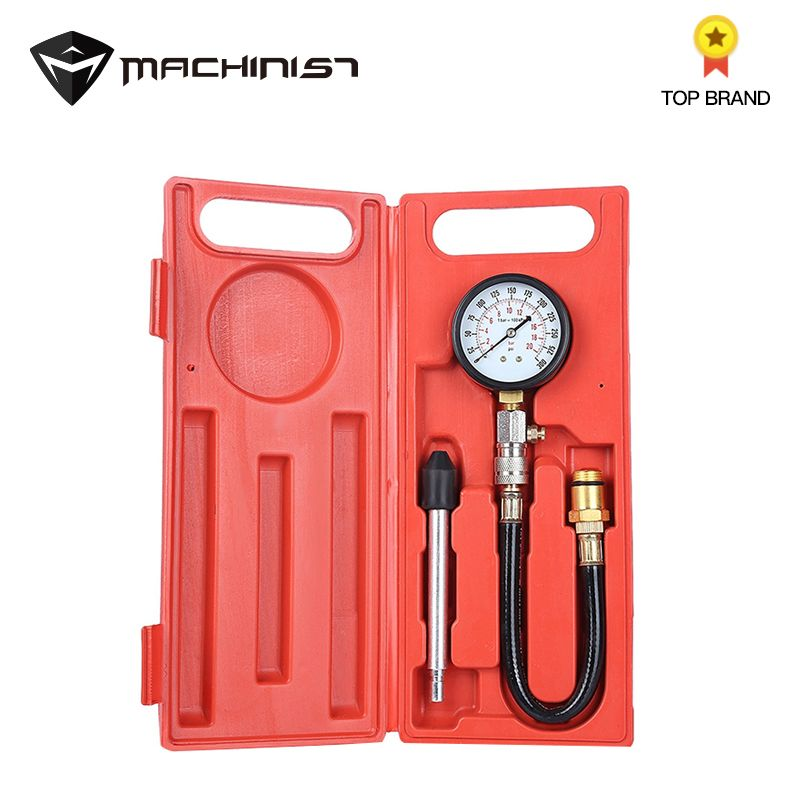Auto Engine Pressure Tester Kit Car Petrol Gas Engine Cylinder Compression Gauge Test Car Repair Auto Engine Diagnostic Tools