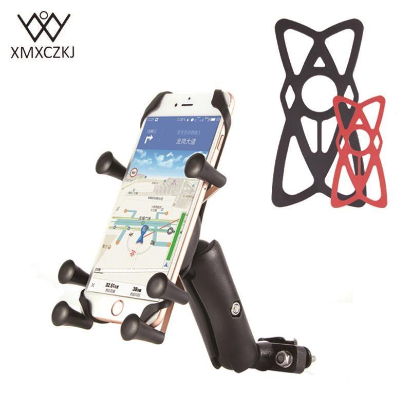 XMXCZKJ Titulaire Téléphone Réglable Vélo Vélo Moto Guidon Mont Titulaire Pour Iphone Huawei XIAOMI GPS Smartphones