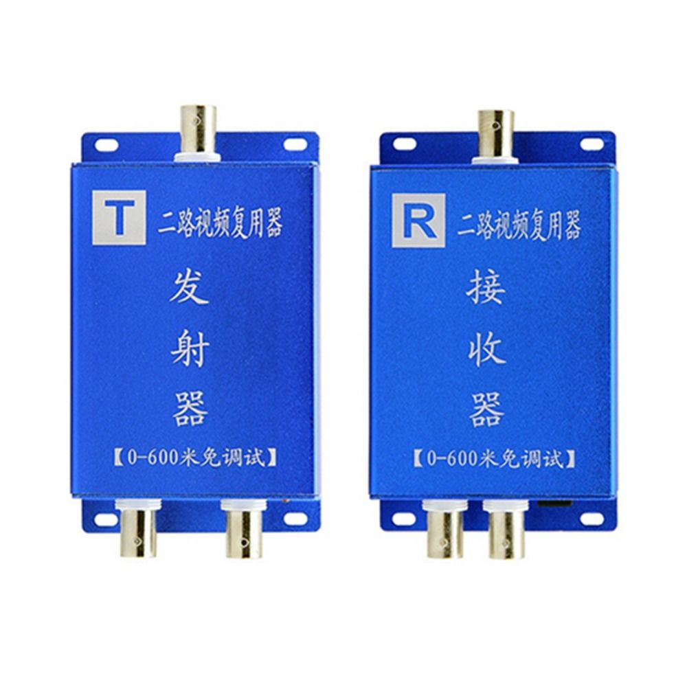 Cctv Camera 2ch Coaxial Cable Video Signal Multiplexer Adder Video Converter/ Transmission Monitor Dual Video Multiplexe