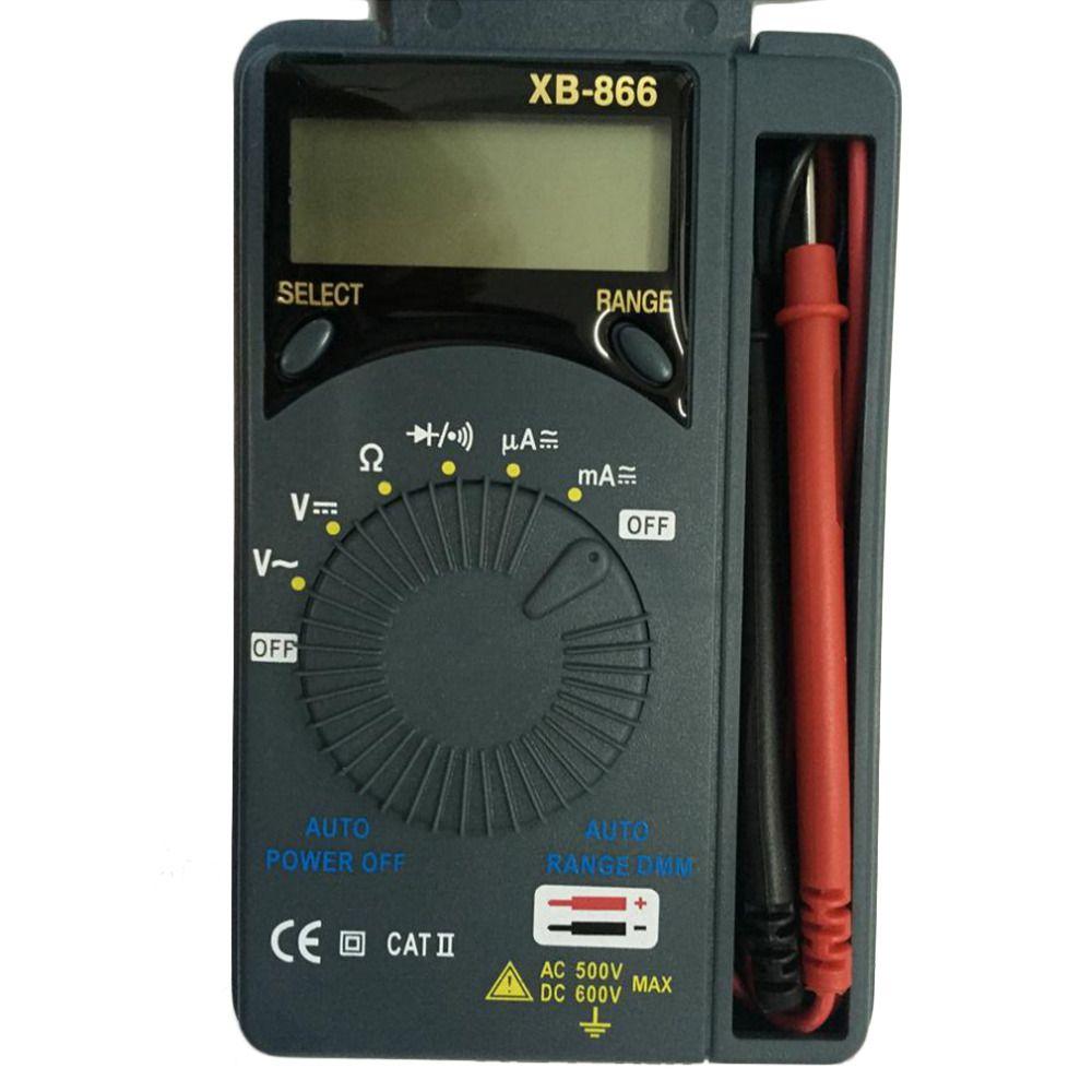 LCD Mini gamme automatique AC/DC poche multimètre numérique multimétro multimètre multitesteur voltmètre testeur outil tout neuf