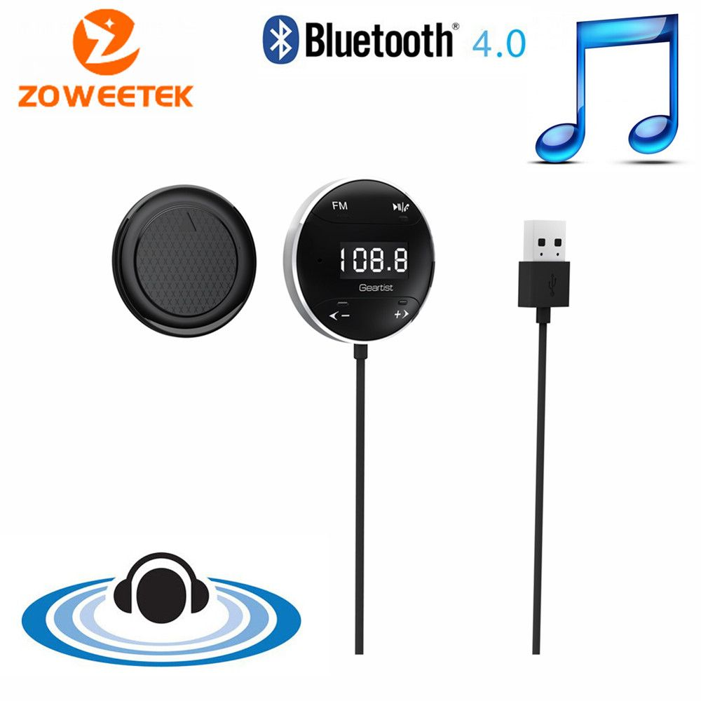 Original Zoweetek GB01 New Hot Handsfree Bluetooth Car Kit with FM Transmitter Function for Listening to Music Answering Call