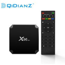 (Доставка из Москвы)DQiDianZ X96mini Android 7.1 X96 mini четырехъядерный Smart TV BOX ТВ Бокс S905W поддерживает 2.4G беспроводной WIFI ТВ приставка