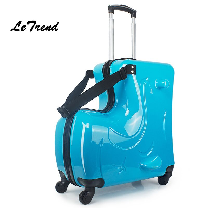 LeTrend Fashion Cute Kids Trolley Suitcases On Wheels Children Carry On Spinner Rolling Luggage Travel Bag Student School bag
