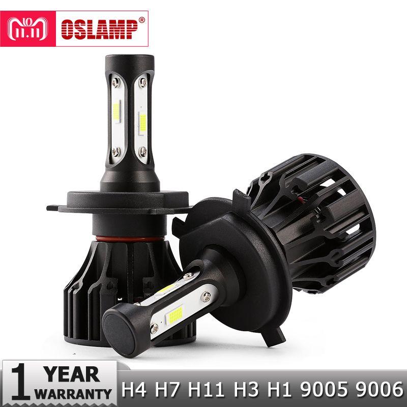 Oslamp 72W COB Chips H4 H7 LED Car Headlight Bulbs H11 H1 H3 9005 9006 Hi-Lo Beam 8000lm 6500K Auto Headlamp Led Light DC12v 24v