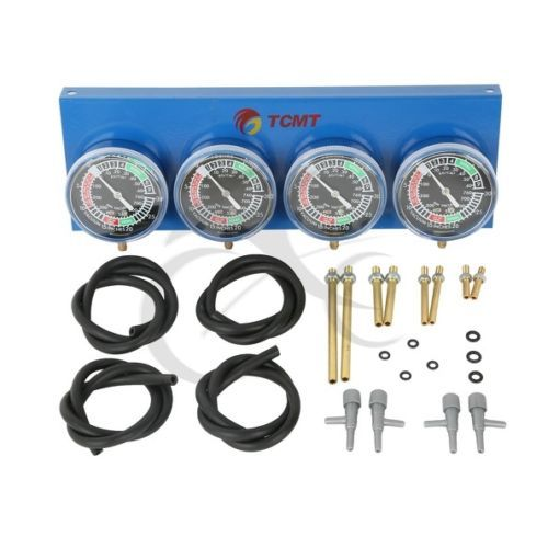 Motorcycle Universal Gauge 4-Carb Carburetor Synchronizer Set kit Vacuum Hoses Extensions 4 GL 1100 1200 1500 CB for Honda