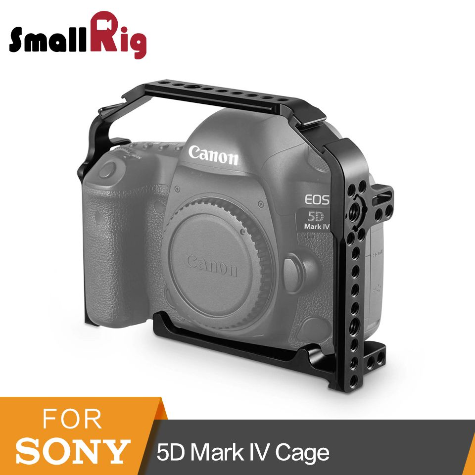 SmallRig For Canon 5D Mark IV Cage With Built-in Arca QR Plate +Side NATO Rail +Arri locating Hole +Cold Shoe- 1900