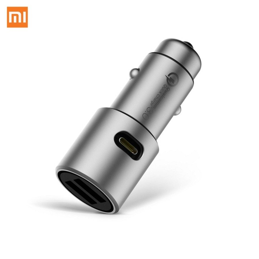 Xiaomi Métal Double USB Smart Central Température De Charge Rapide Chargeur MAX 36 W DC 5/12/24 V 2/3A wiht LED Chargeur De Voiture
