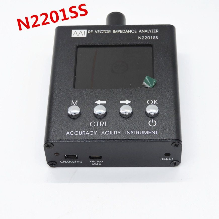 English verison N2201SS n2201 137.5M - 2.7GHZ 137.5MHZ to 2.7GHZ UV RF Vector Impedance ANT SWR Antenna Analyzer Meter Tester