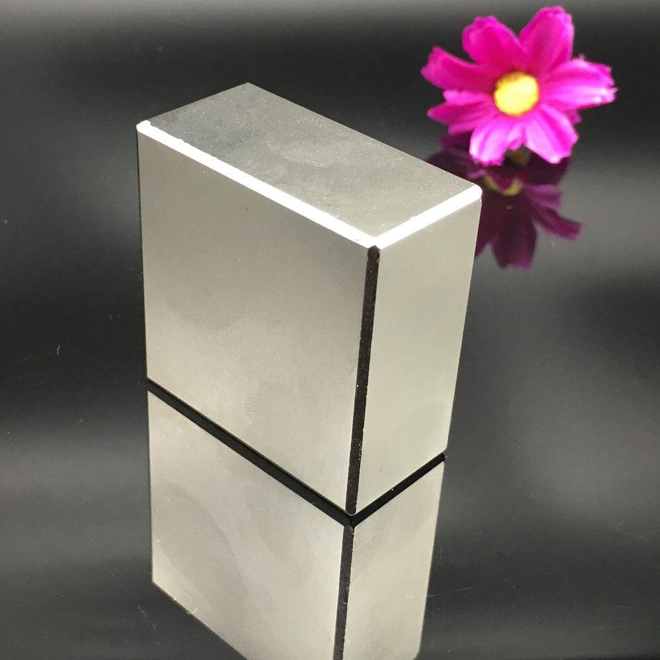 2 pièces aimant néodyme 40x40x20mm métal gallium super forte aimants 40*40*20 carré néodyme aimant puissant aimants permanents