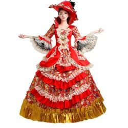 Fancy Palace Masquerade Cosplay  Costumes Women's Prom Gothic Victorian Cosplay Clothing