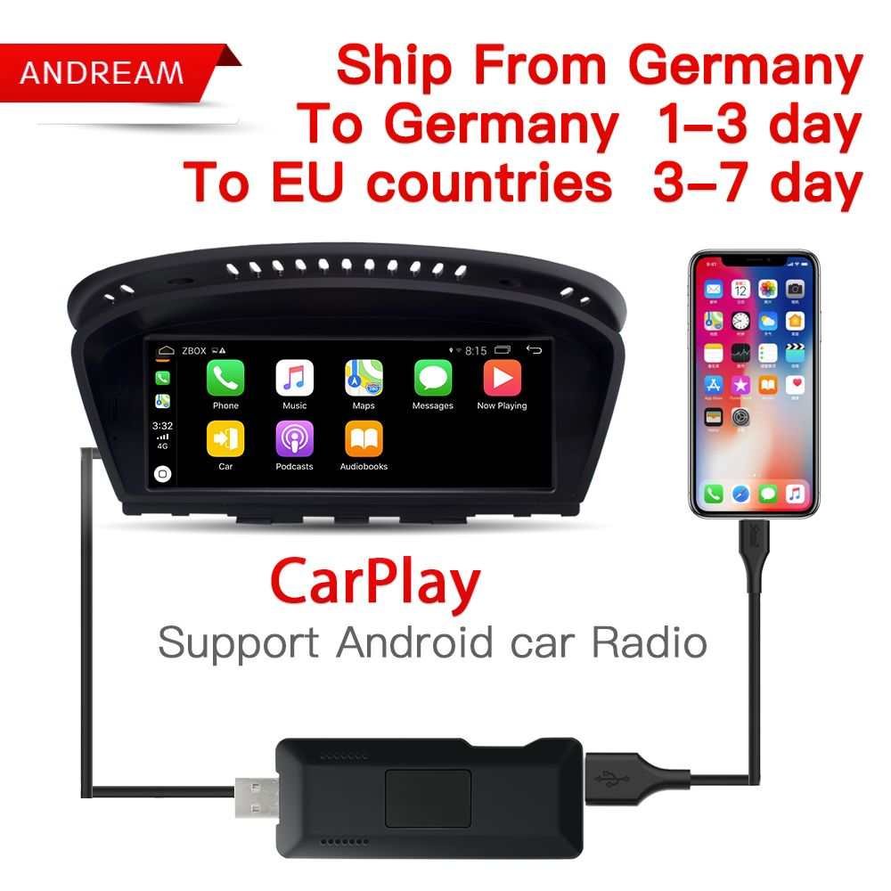 Carlinke USB Smart Link Apple Carplay Dongle box for Android Navigation DVD Radio Player Mini USB Carplay Stick for Apple IOS