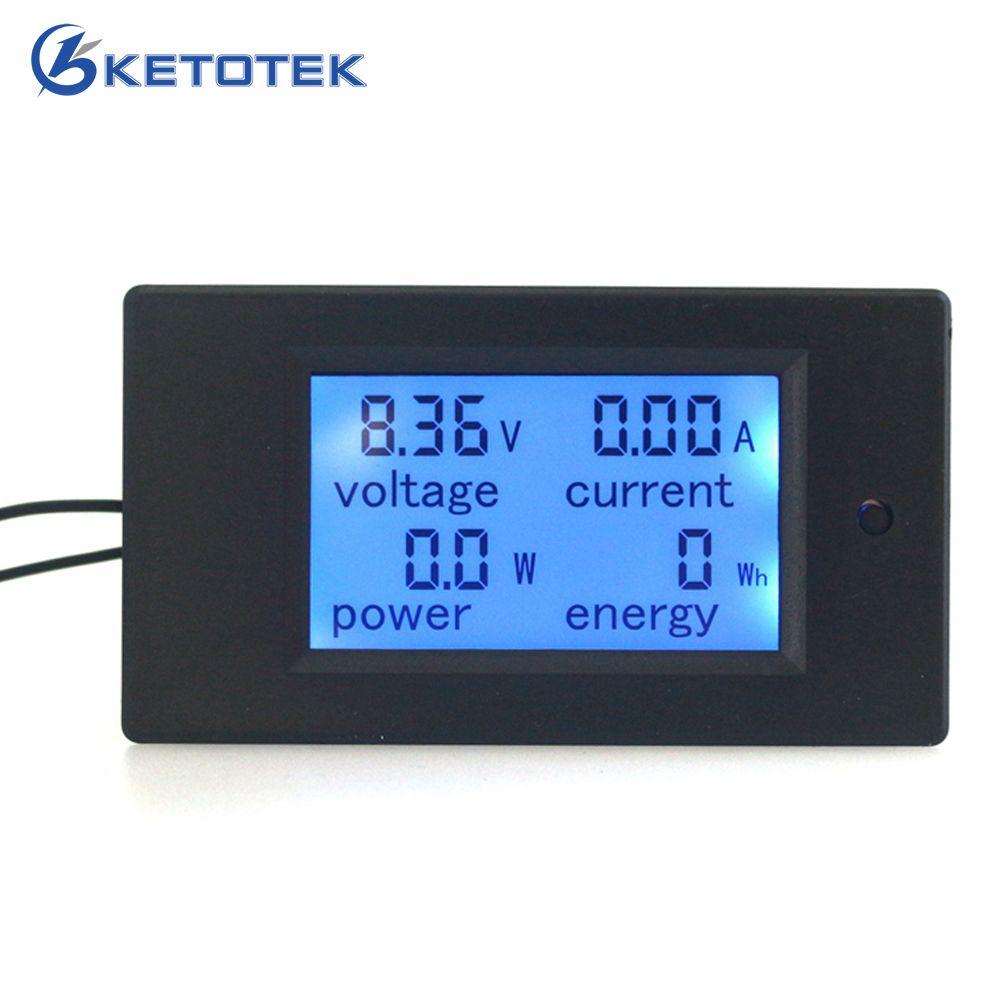 DC 6.5 ~ 100 V 0 ~ 20A numérique LCD Volt AMP voltmètre ampèremètre puissance compteur d'énergie module montre V A W Wh