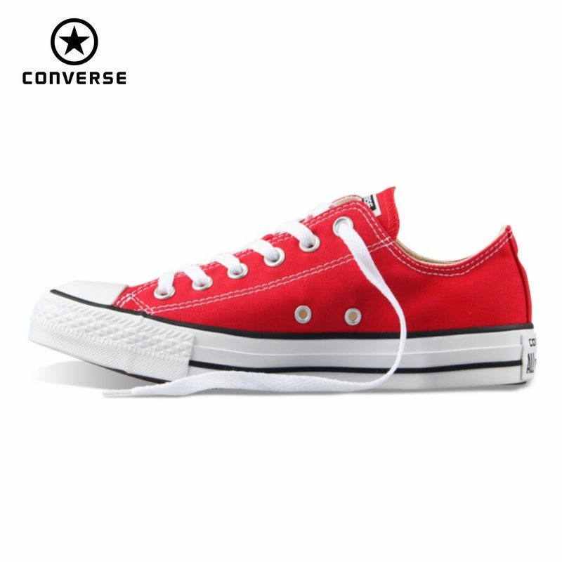 Original Converse all star canvas shoes women man unisex sneakers low classic women Skateboarding Shoes red color free shipping