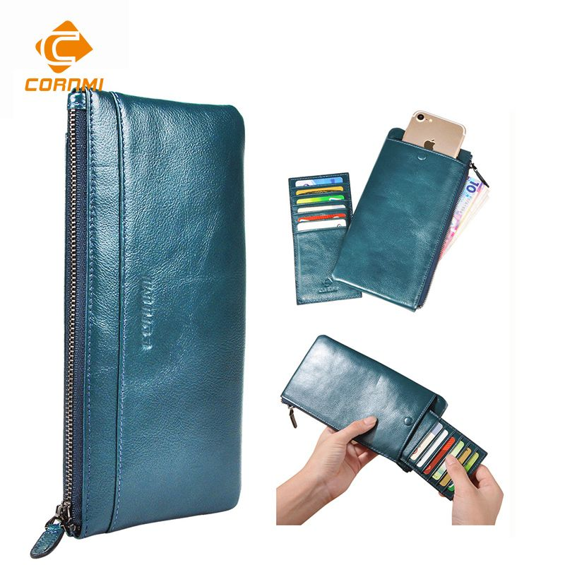 Purse Bag For iphone 7 7 Plus 5 SE 6 6S Plus Case For Samsung J5 S6 S7 Edge Men Women Wallets Genuine Leather Universal Carteira