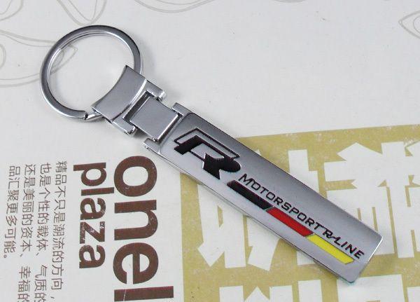 3D metal Auto Rline R line motorsport keychain key ring keyring