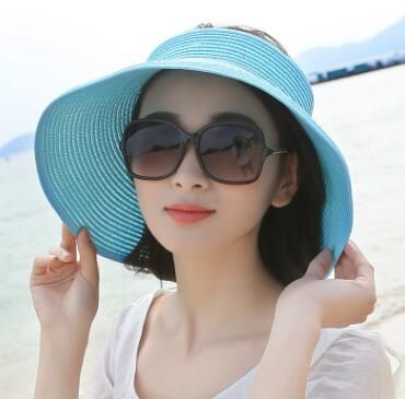 Fast shipping Tui guangjieshao style NO the summer sun hat simple leisure hat edge folding washing basin hat cap style seven