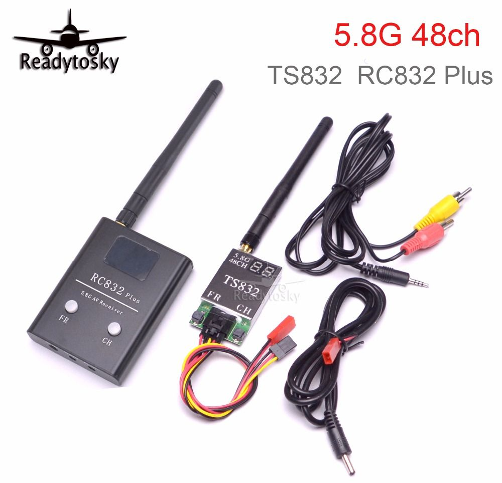 5.8G 600mw 5km Wireless AV Transmitter TS832 Receiver RC832 Plus 48ch for FPV Multicopter F450 S500 S550