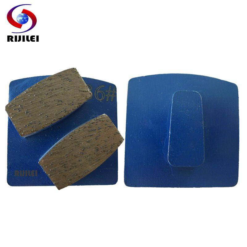 RIJILEI 30 pièces gros disque de meulage de diamant en métal pour broyeur de sol en béton forte plaque magnétique meulage chaussures disques L10