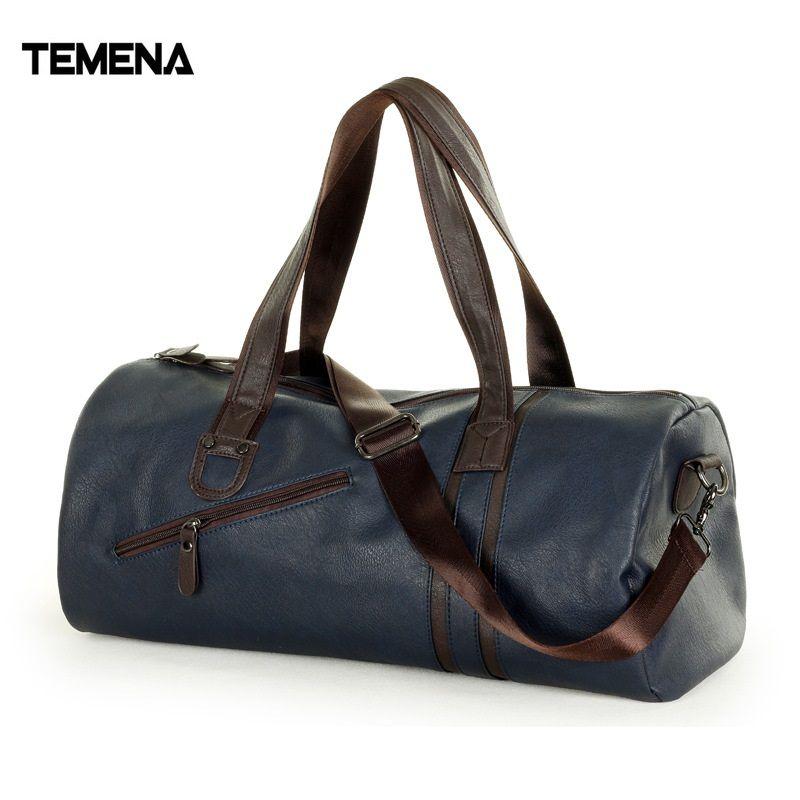 Temena большой Ёмкость открытый спортивная сумка для мужчин новый бренд PU тотализатор вещевой мешок многофункциональный путешествия Спорт Тр...