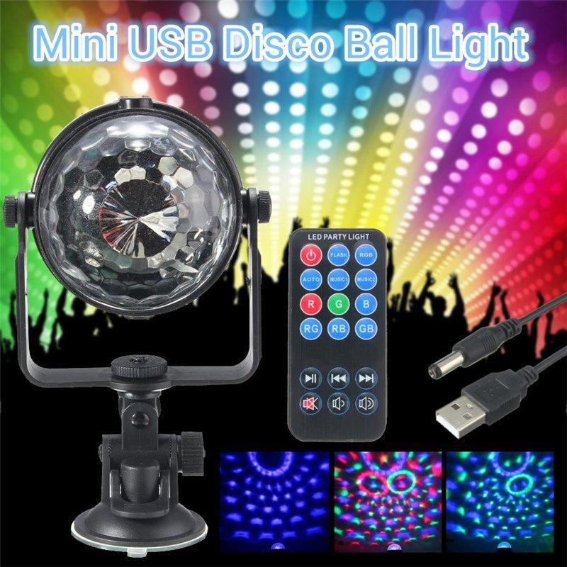 Mini RGB LED Bühne Licht 3 Watt Fernbedienungen Licht Disco-Kugel lichter FÜHRTE Partei Lampe Zeigen Bühnenbeleuchtung Wirkung USB Powered DV 5 V