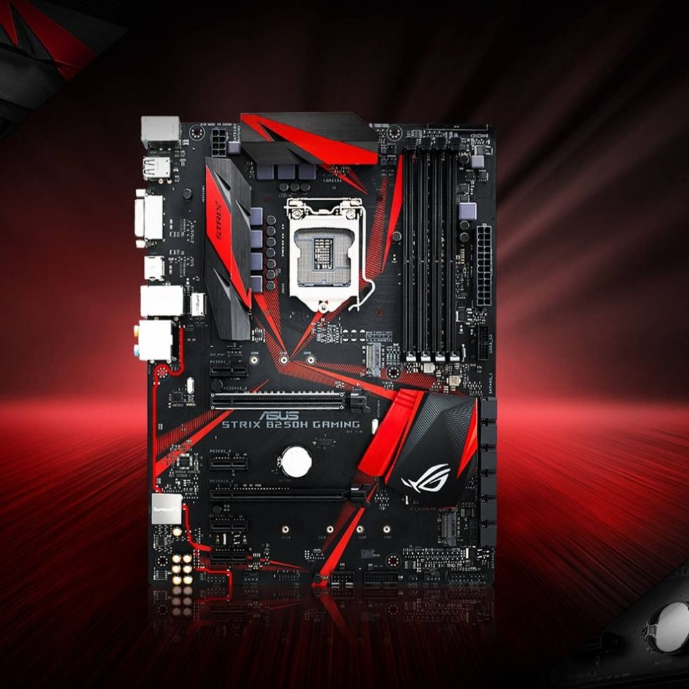 ROG STRIX B250H GAMING Desktop Motherboard LGA 1151 I7 I5 I3 14nm 4*DDR4 Support 64G 6*SATA3 2*M.2 ATX Mainboard